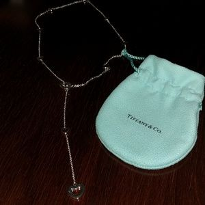 Tiffany necklace open heart lariat